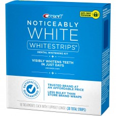 Crest Noticeably White Whitestrips Dental Whitening Kit (5 Treatments / 10 Strips)